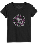 Rosie The Riveter - Black Missy V-neck w/ Pink