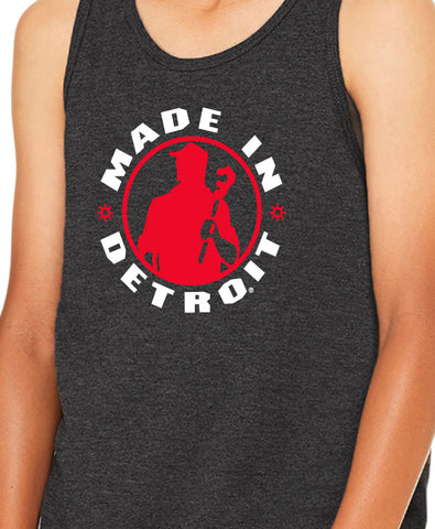 MID - Youth Tank - Dark Grey Heather