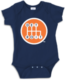 SHIFTER - Onesie - Navy w/ Orange