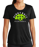 Dinktroit Ladies Short Sleeve Moisture Wicking Shirt