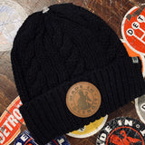 MID Leather Patch Knit Cap