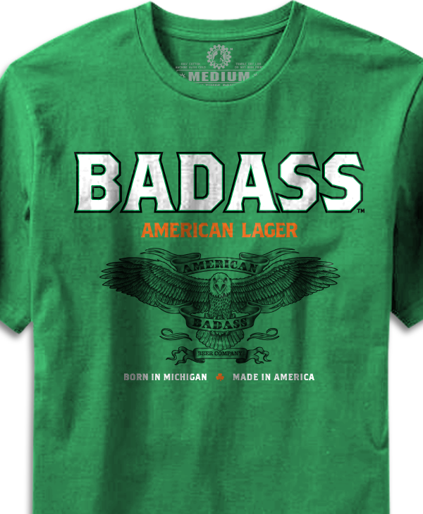 Badass American Lager - Kelly Green