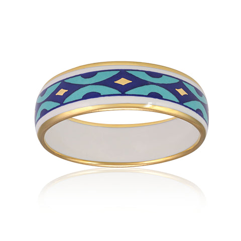 GOLD OF DESERT gold plated blue fine porcelain bracelet