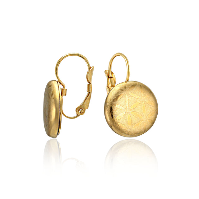 MINIMAL gold plated fine porcelain clasp earring set