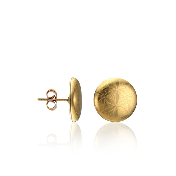 MINIMAL gold plated fine porcelain earring set