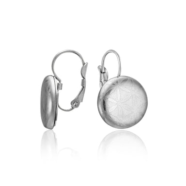 MINIMAL platinum plated fine porcelain clasp earring set