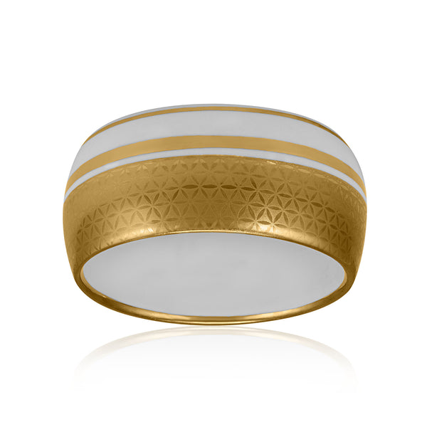 MINIMAL gold plated wide fine porcelain bracelet