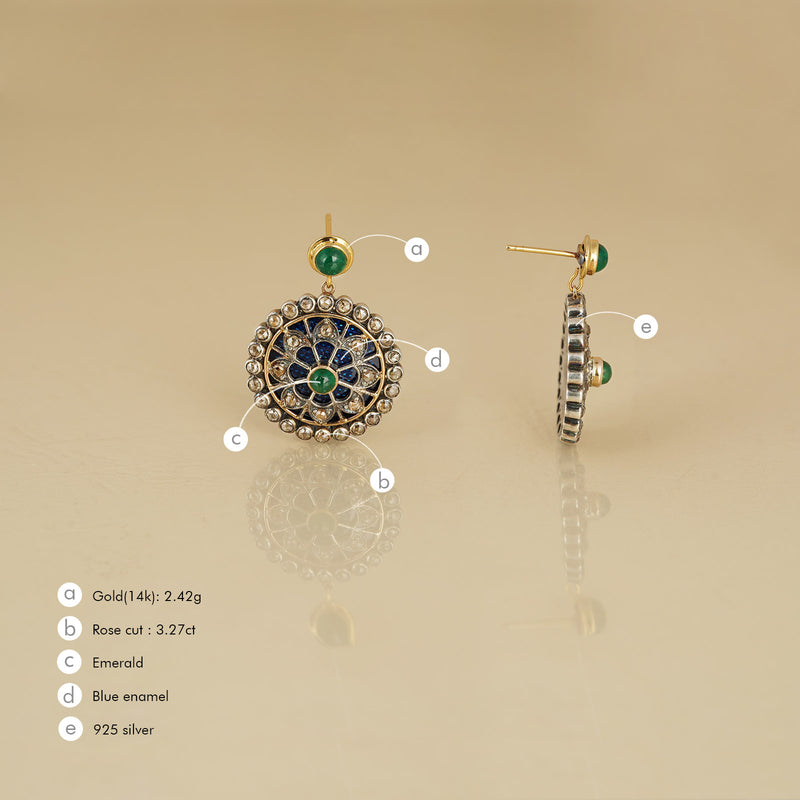 Marrakesh Emerald Dangling Earrings
