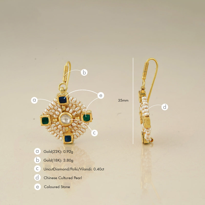 Nusrat earrings/m130