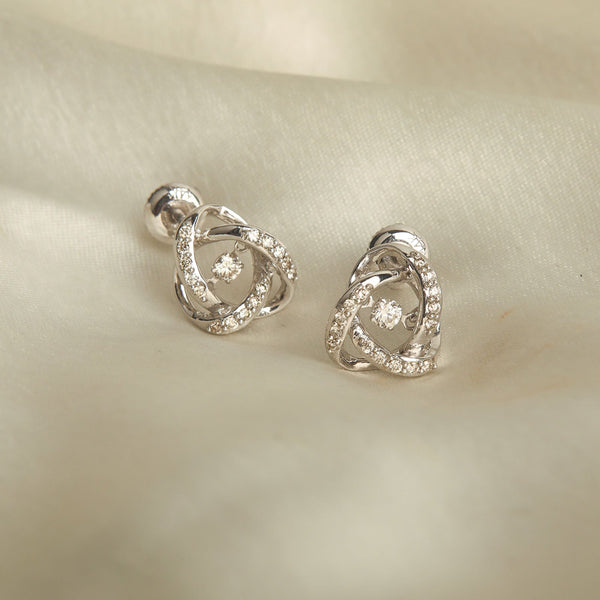 Dancing Diamond French Knot Studs/m076