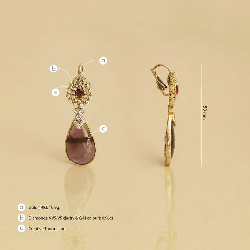 Padma earrings/m127