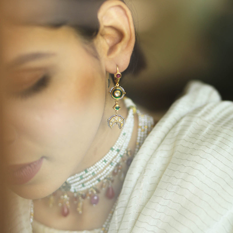 Old Delhi Clip-On Earrings/m098