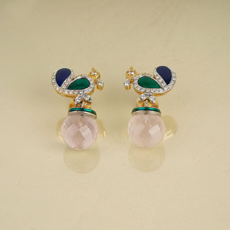 Peacock Quartz Earrings/M032