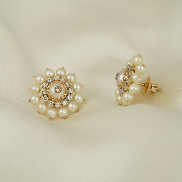 Audrey Pearl Ear Studs/m022