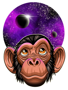 Space Chimp Vinyl Sticker