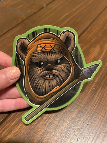 Ewok Vinyl Sticker