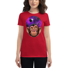 Load image into Gallery viewer, Women's short sleeve Space Chimp t-shirt