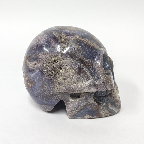Grape Agate Skull - large
