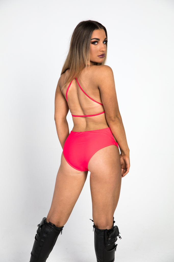 Red Cutout Bodysuit