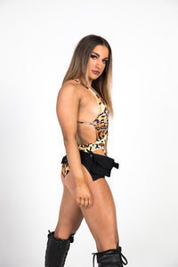 Cheetah Cutout Bodysuit
