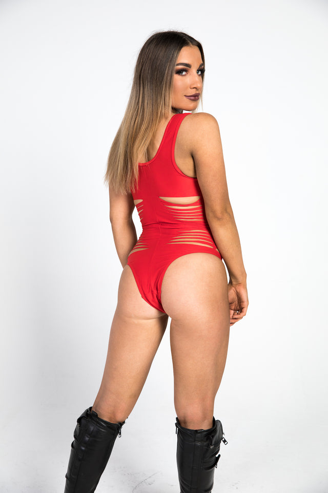 back red bodysuit