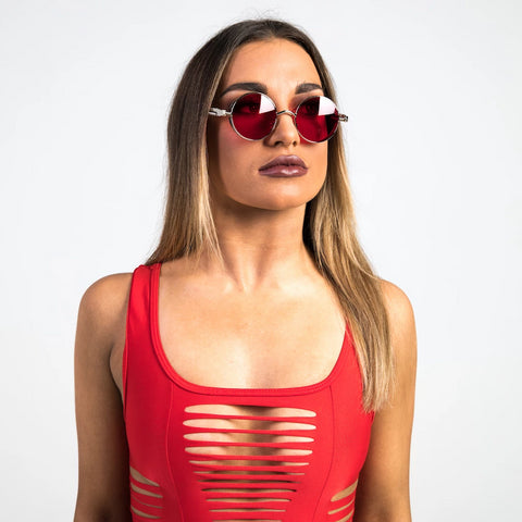 Red Steampunk Sunglasses