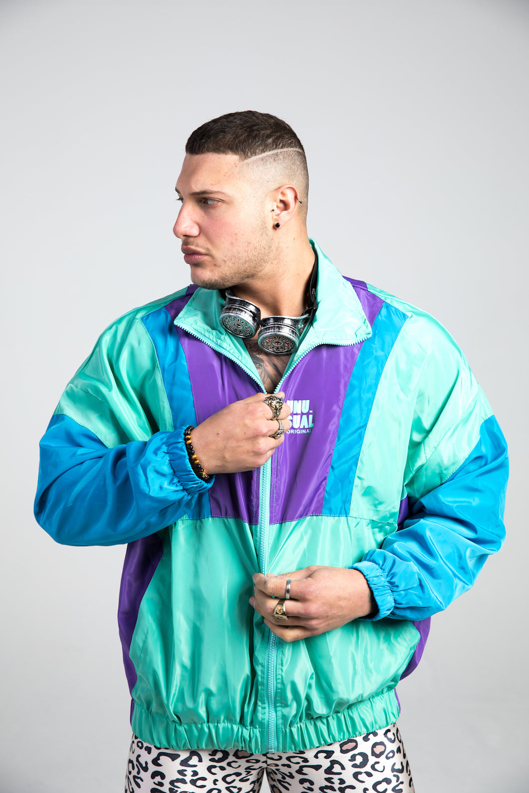 Green Vintage Windbreaker