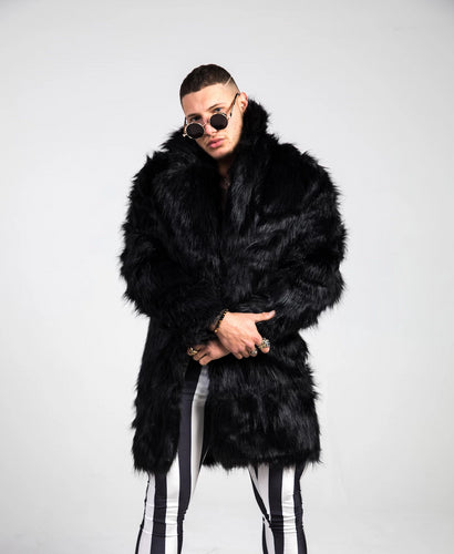 Black Fur Doof Jacket