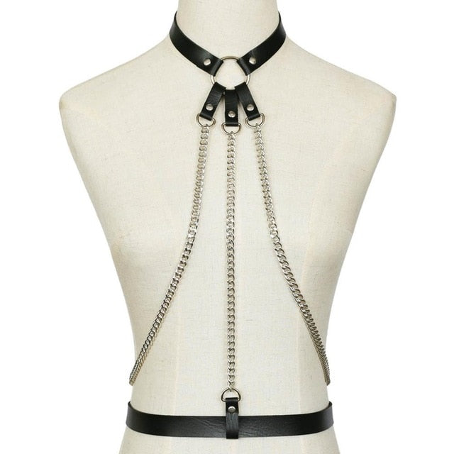 Leather Neck Harness