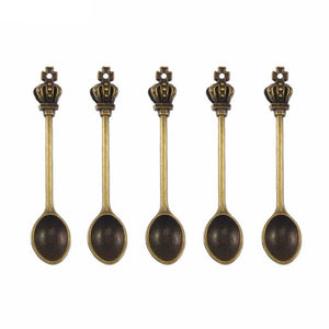 five snuff spoons