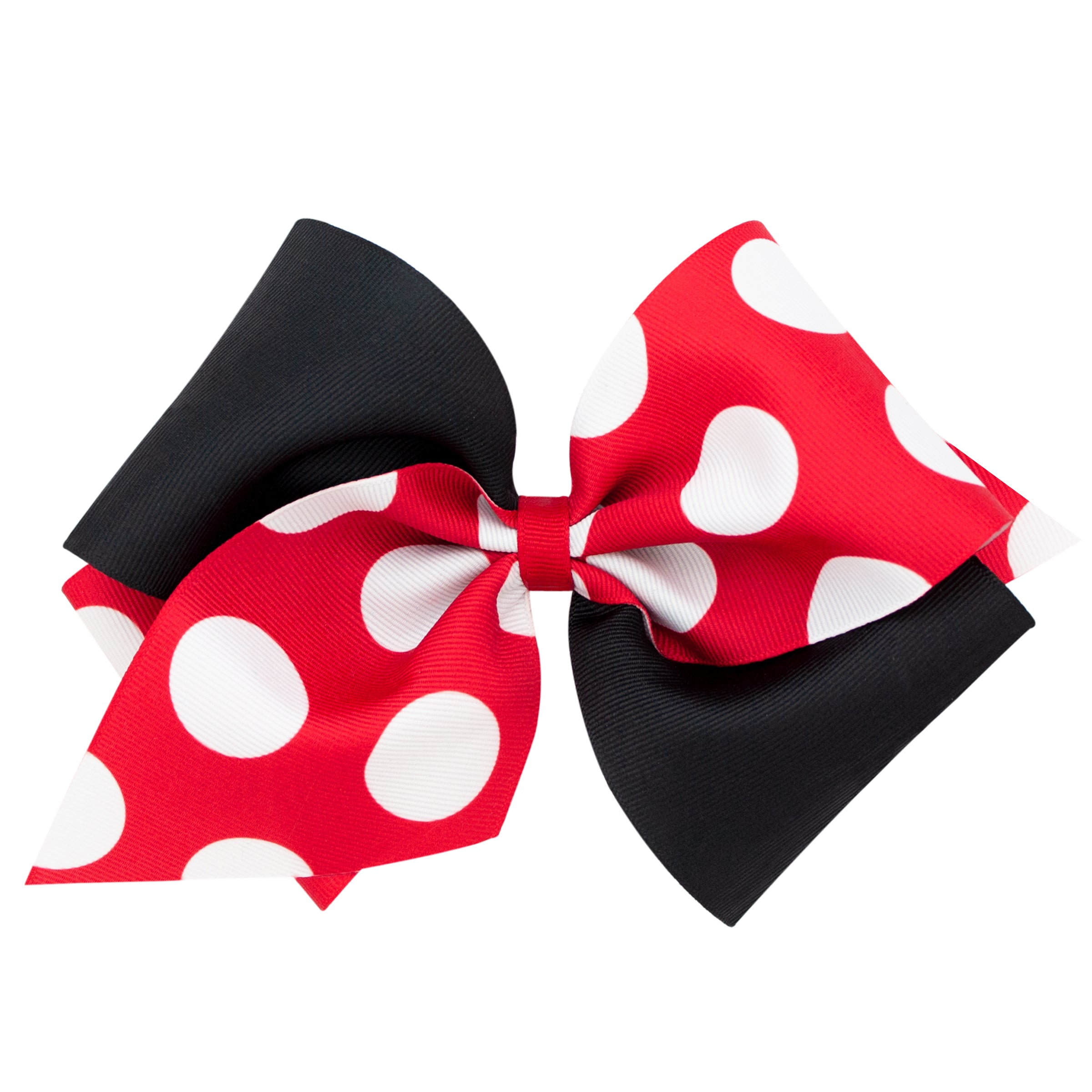 Red, White, and Black Polka Dot Bow