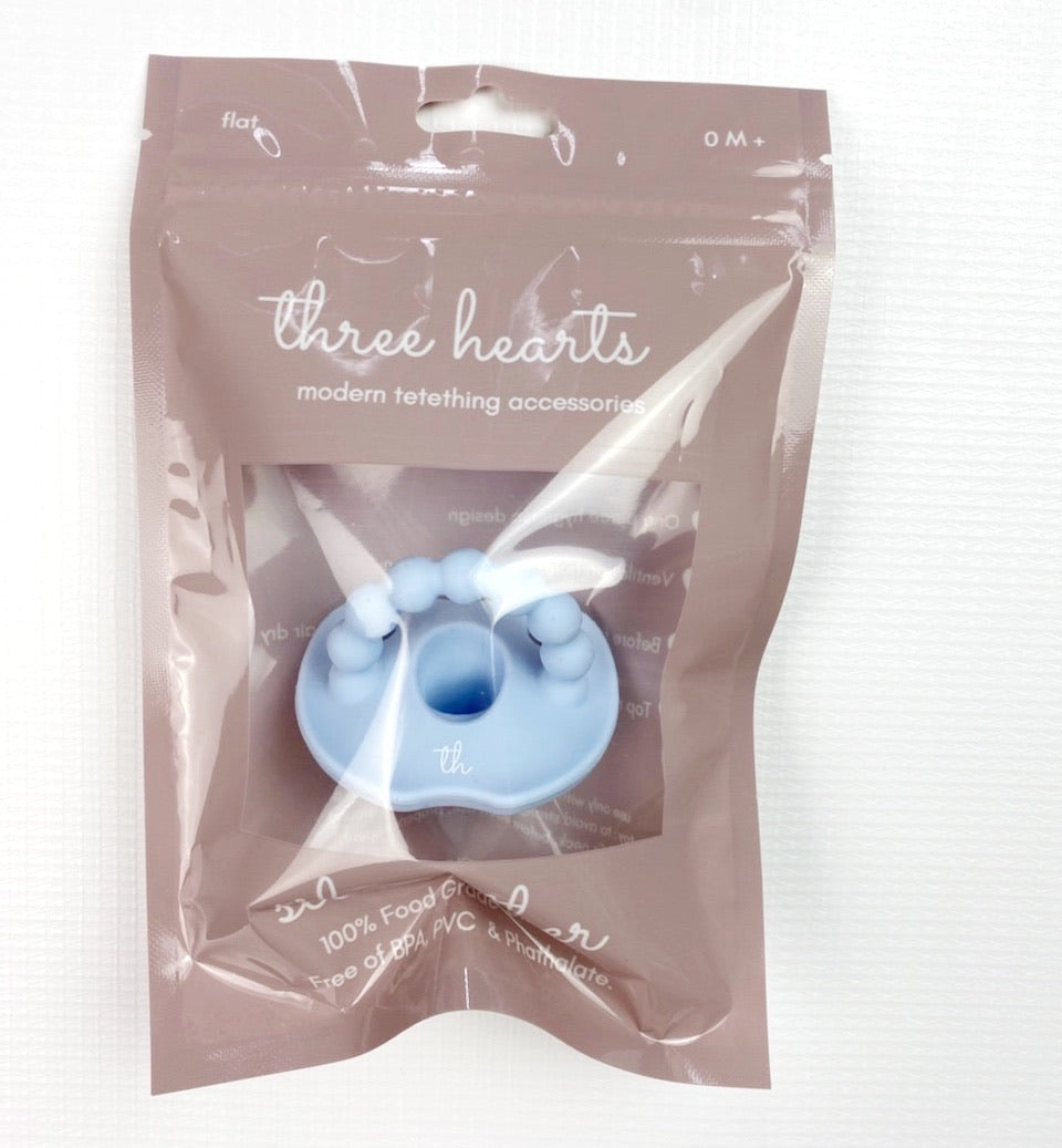 Sili Soother Flat Pacifier - Baby Blue