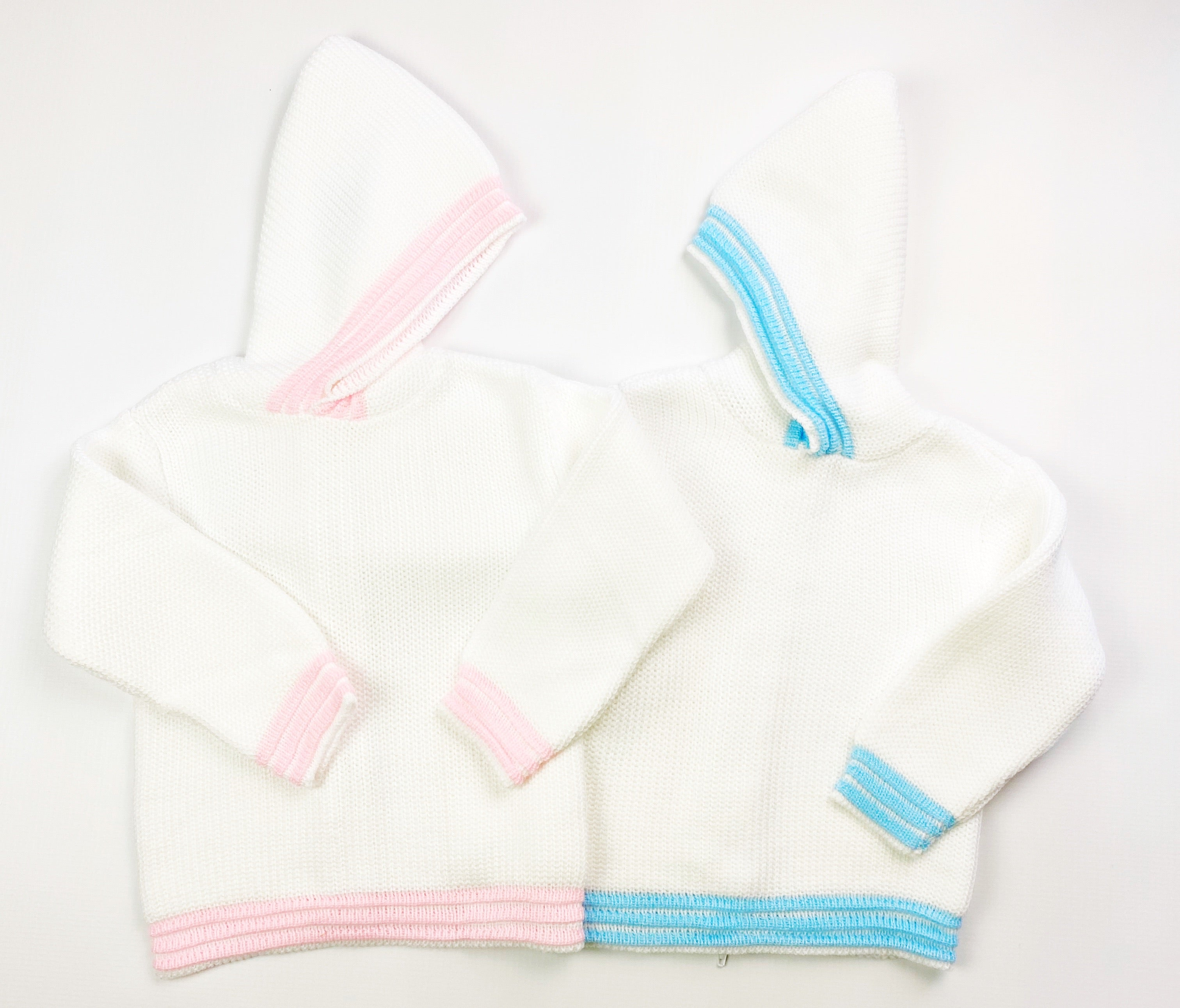 Zip Back Hooded Sweater - Pink (12M)