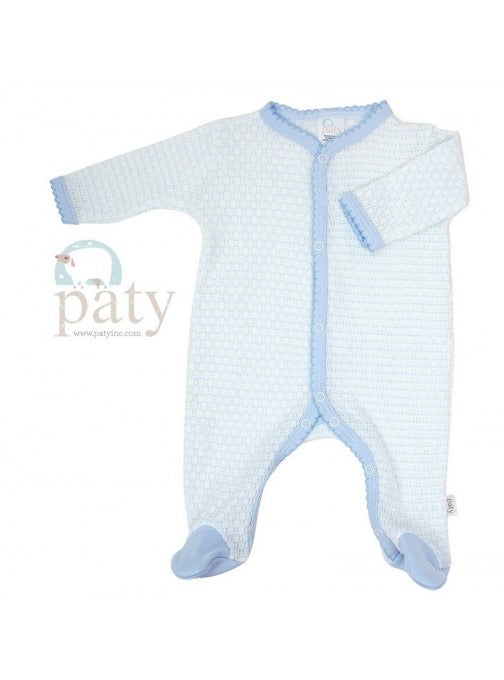 Blue With Blue Trim Footie