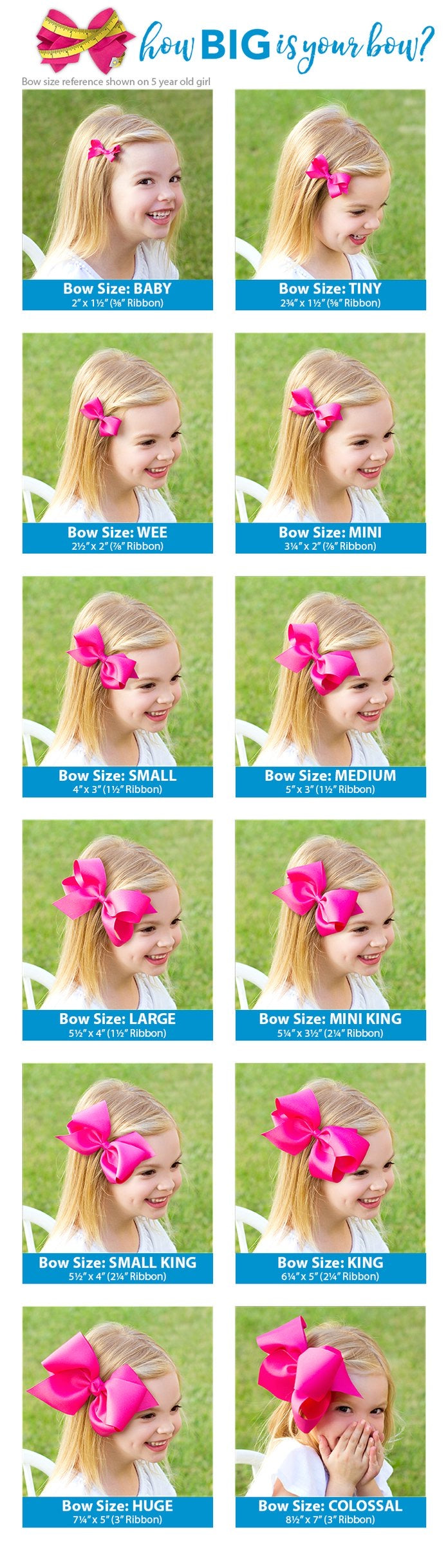 Medium Classic Grosgrain Bow On Headband - Light Pink