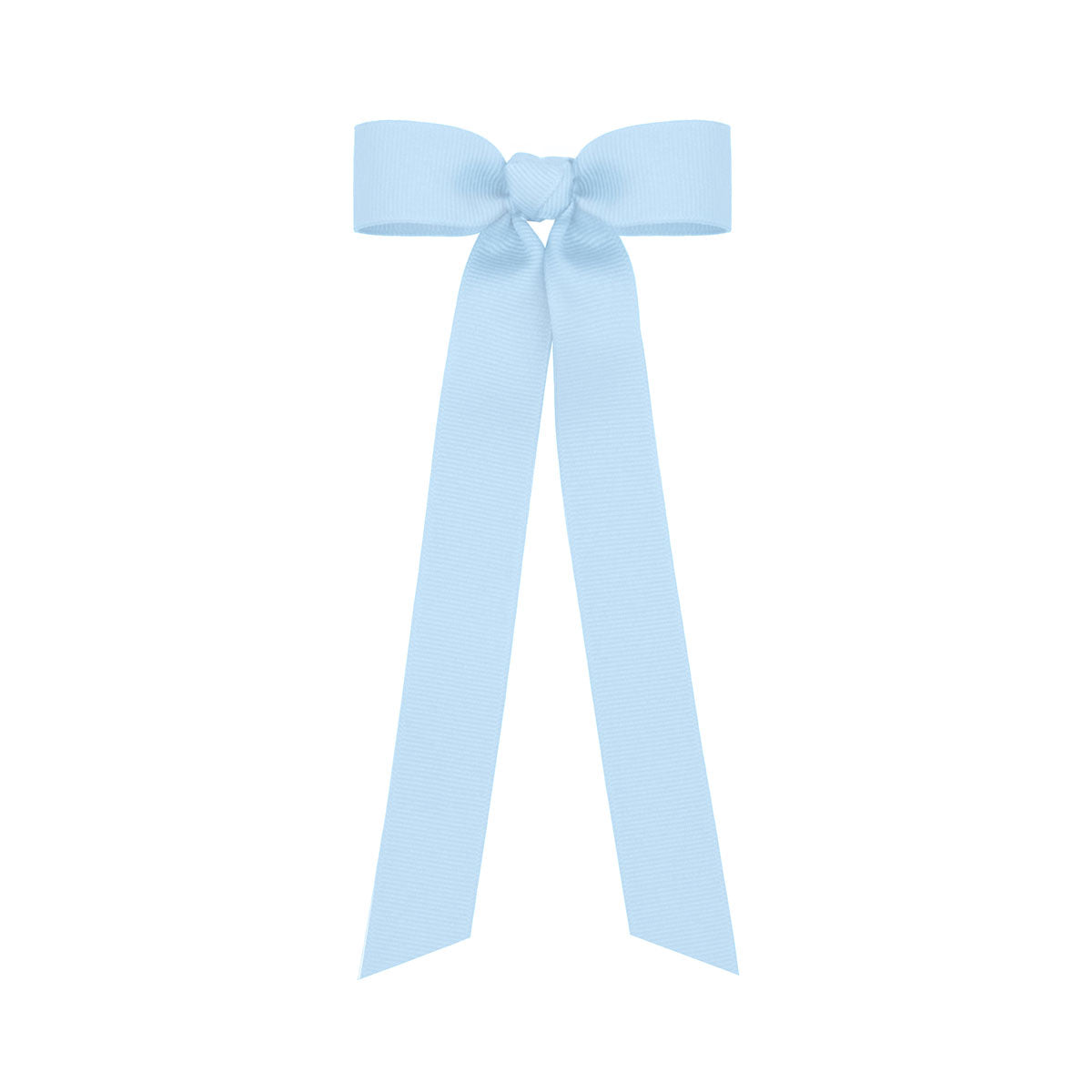 Millenial Blue  Grosgrain Long Hair Bow