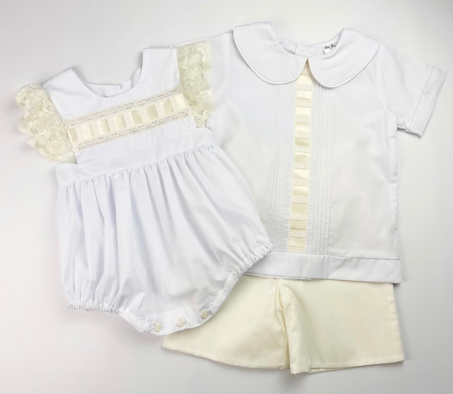 White And Ivory Lace Bubble (24M)