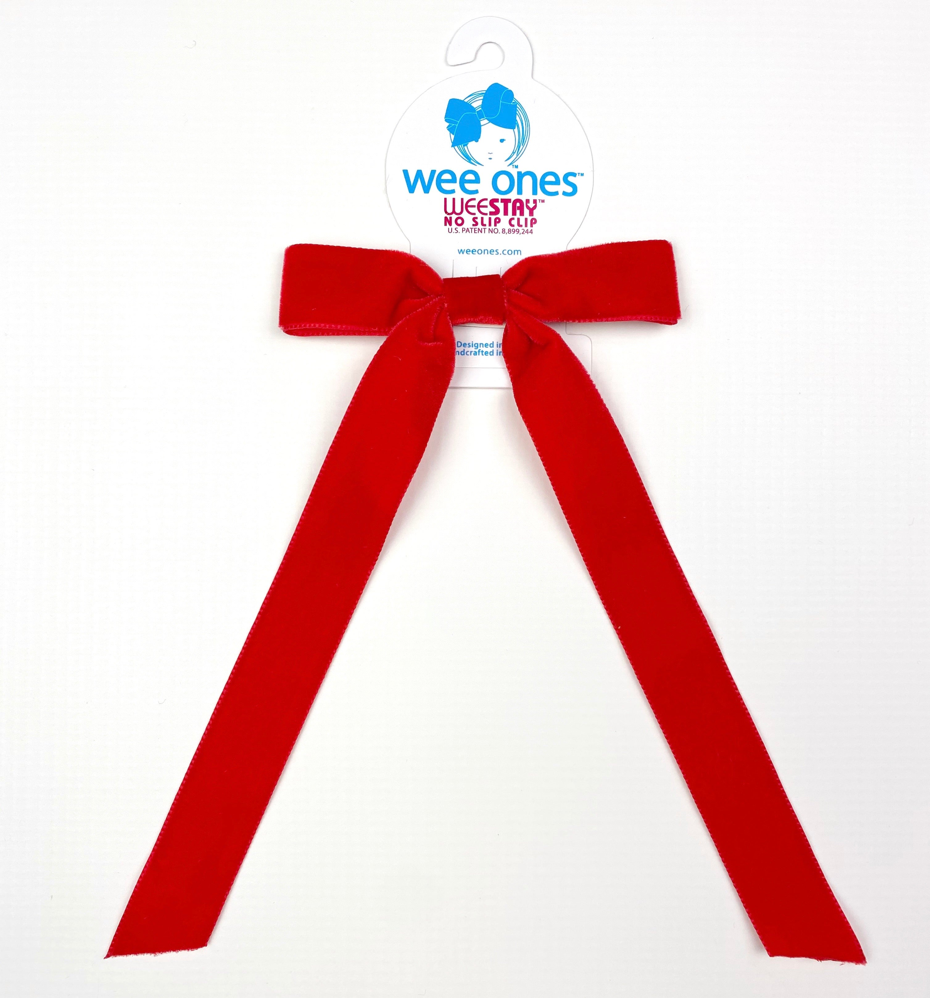 Red Velvet Bow With Tails