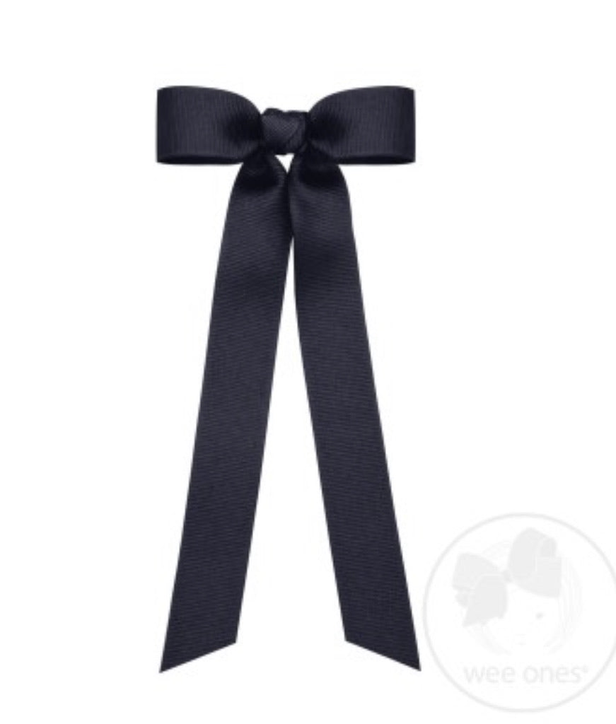 Navy Grosgrain Long Bow