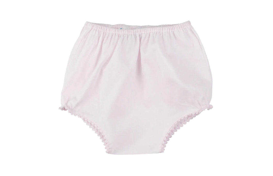 Ric Rac Trim Diaper Cover - Pink