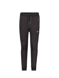 Kids Streep Joggingbroek - Zwart / Wit