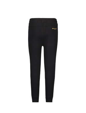 Kids Goud Logo Joggingbroek - Zwart