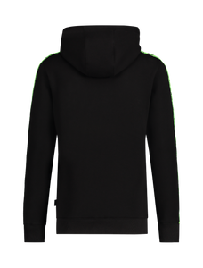 Neon Embroidery Tape Logo Hoodie - Zwart