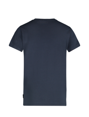 Kids Verticaal Logo T-shirt - Navy / Wit