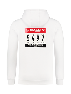 Winning Team Logo Badge Hoodie - Wit
