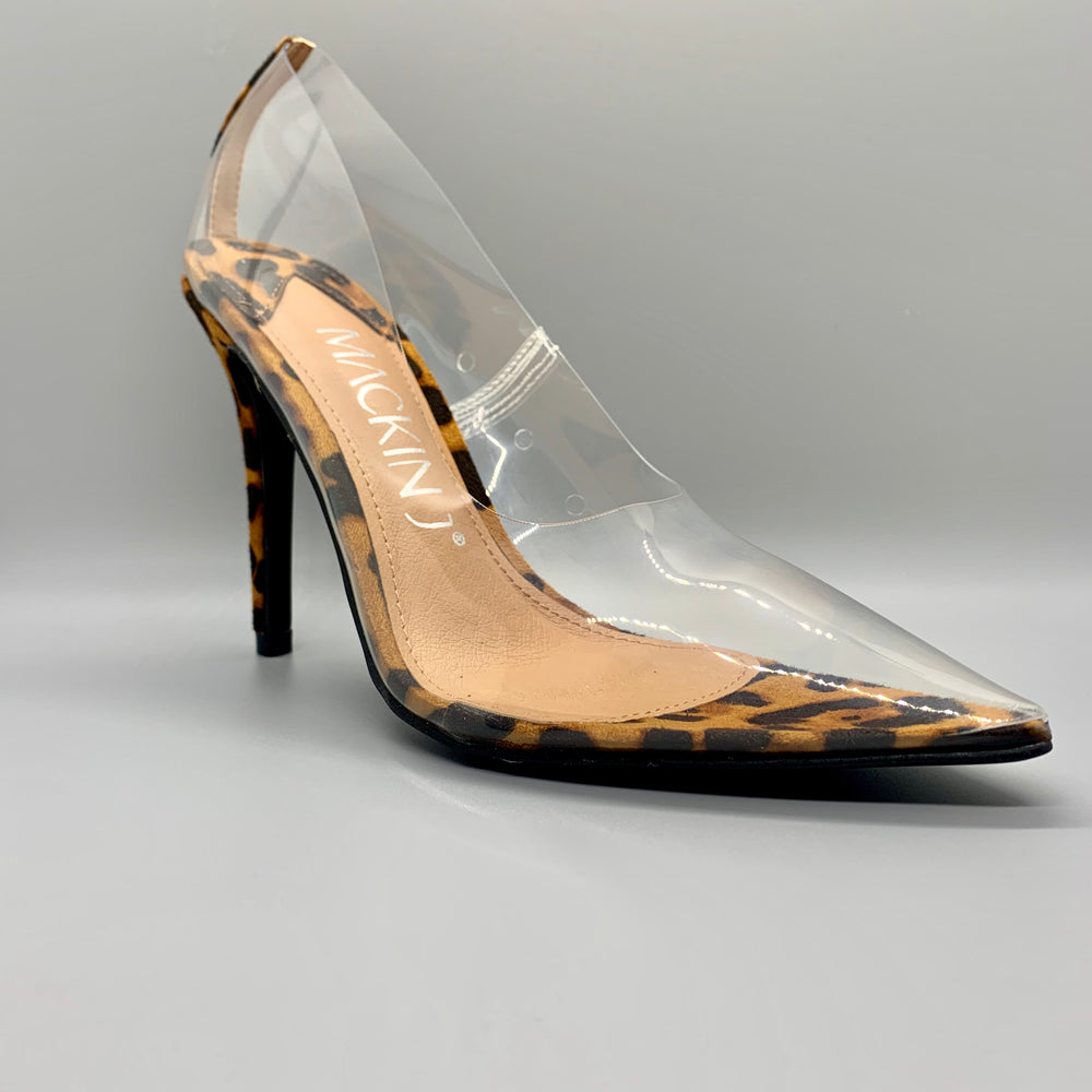 Leopard Transparent Pumps by Mackin J