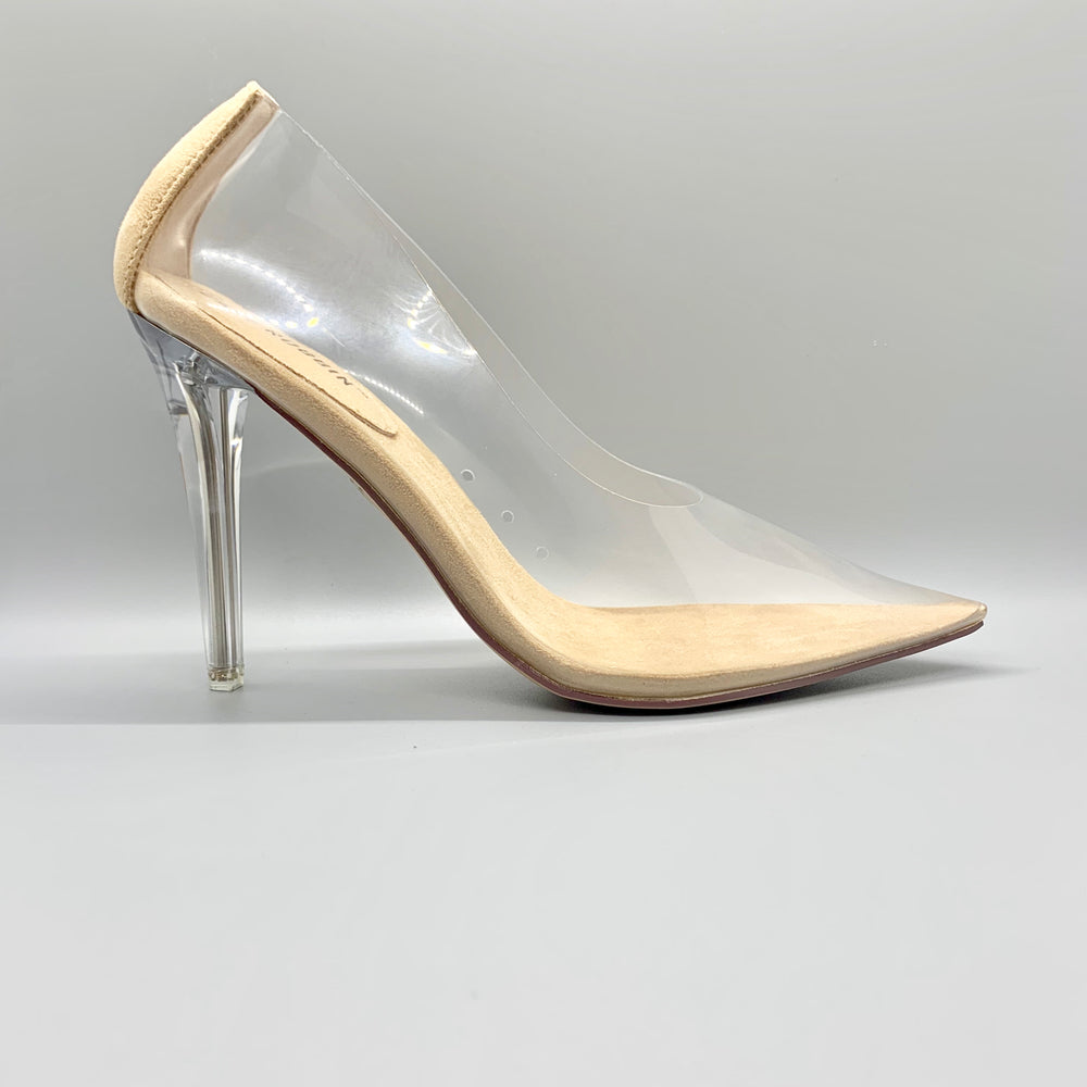 Nude Transparent Pumps by Cape Robbin