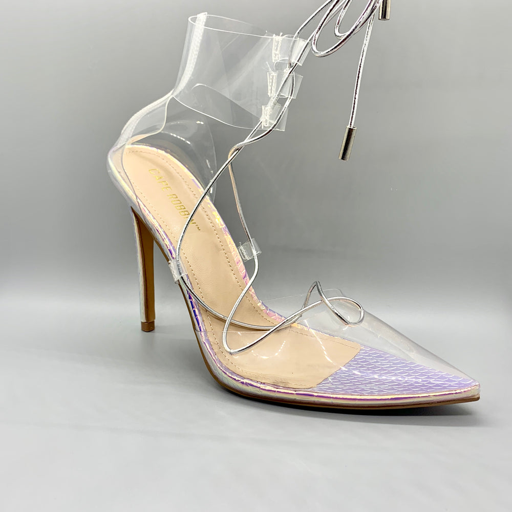 Clear Rainbow Heels by Cape Robbin