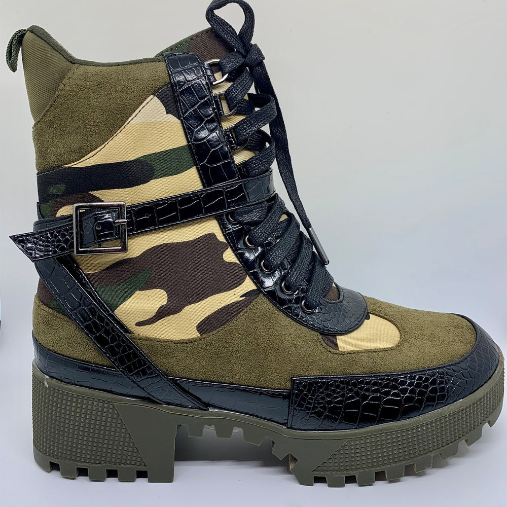 Winter efficient military Print Boots