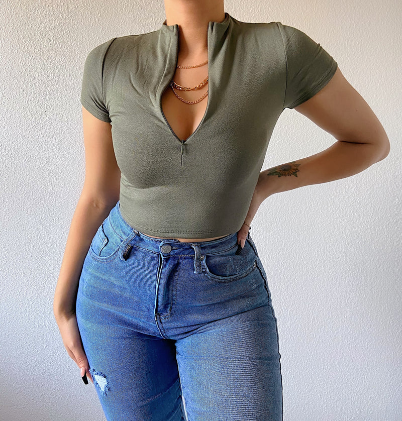 Lexi top (army green)